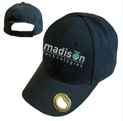 Custom embroidery caps hats with Bottle opener