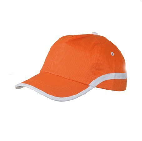 Orange caps hats with piping brim