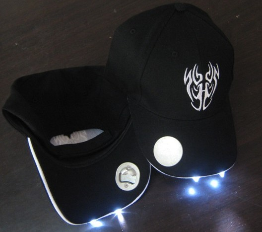 Led cap with opener