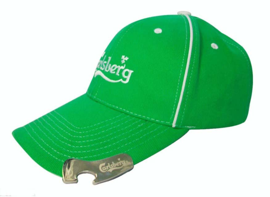 bottle green hat cap with custom opener