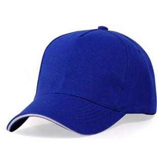 blue 5 panel  cap with sandwich