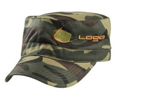 camo millitary cap with embrodery logo