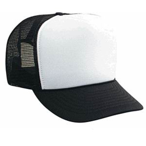 black trucker cap