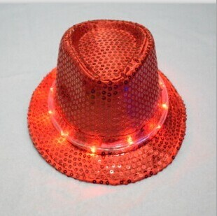 Sequined hat with led light