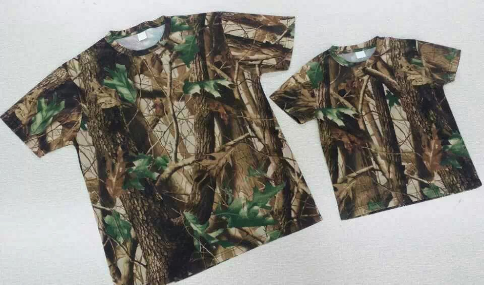 T shirts in camo color