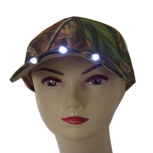 Baseball caps hats in camo color with Led lights