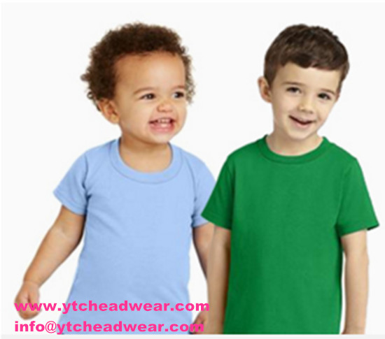 Round neck plain color T- shirts for Child
