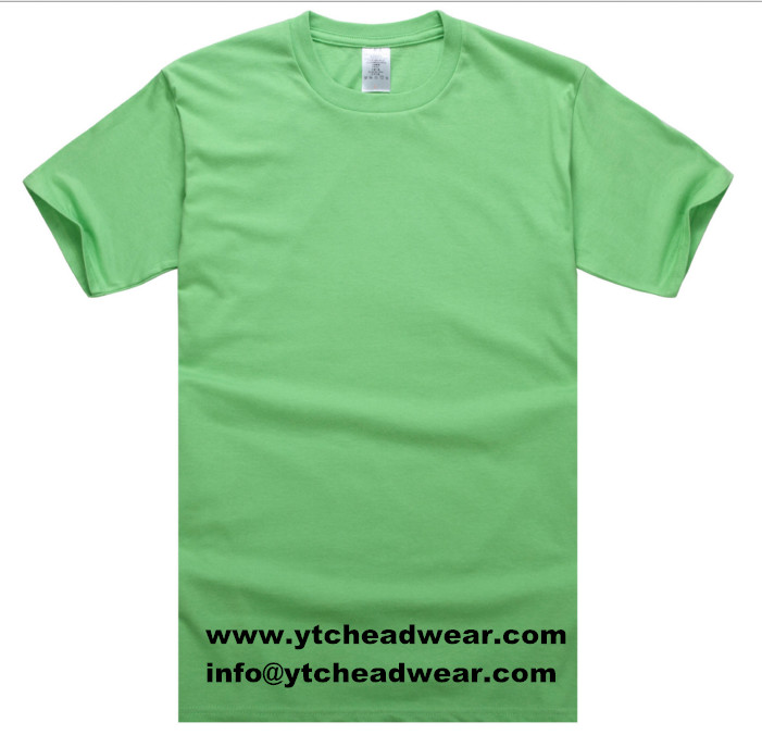 sell blank Cotton T shirts in green color