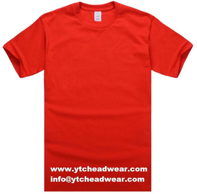 T shirts factory supply cotton t shirt red color