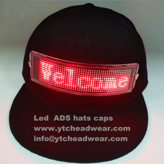 Special led light hats caps for advertisements
