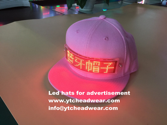 custom led hats caps fan hats for evening party