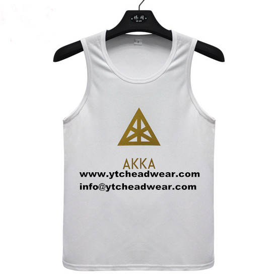 white cotton tank top/vest for men and women