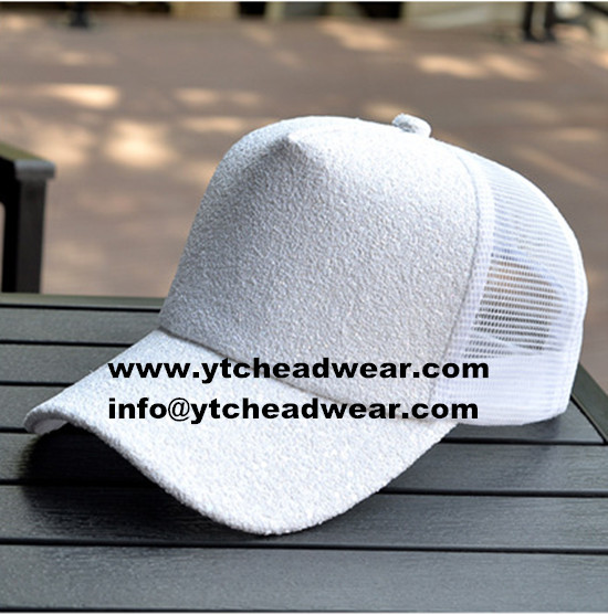 Sell 5 panel fashion mesh hats white men women