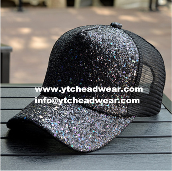 Wholesale blank black trucker caps hats