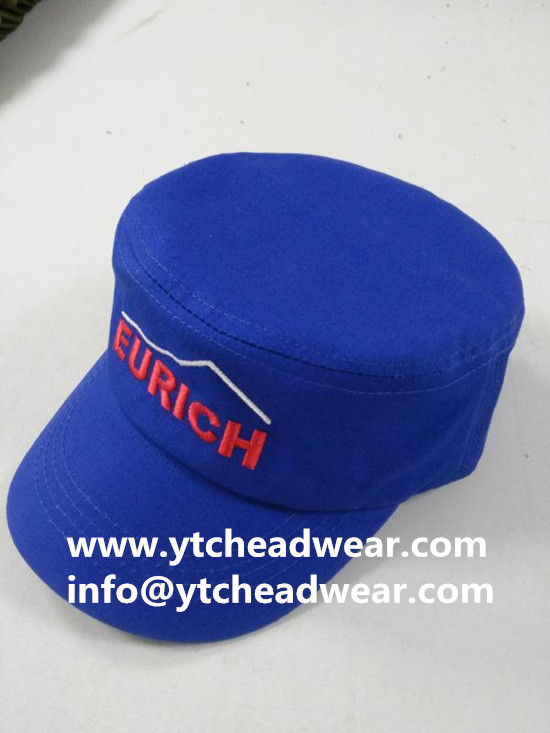 custom embroidery blue caps hats for workers