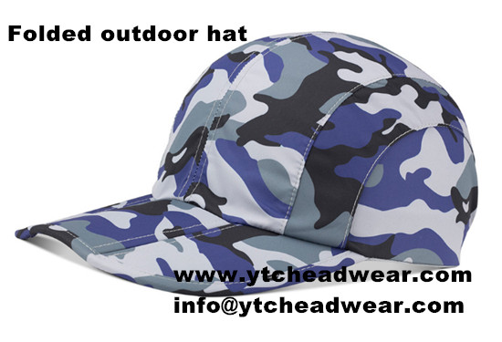 Anti-UV HAT/Folded outdoor cap in camo color