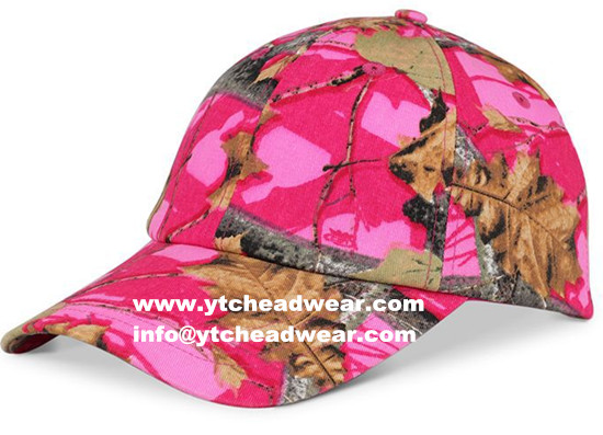 supply cotton sport hats outdoor caps  camo color
