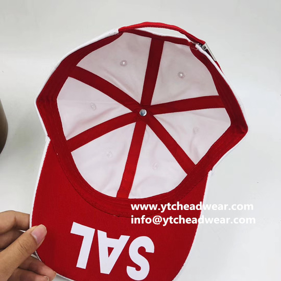 High quality 3D embroidery custom hats