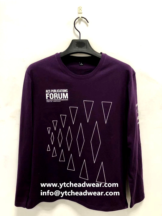 cotton crew-neck T- shirts with long sleeves