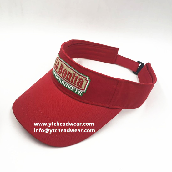 custom embroidery visor hats caps with logo