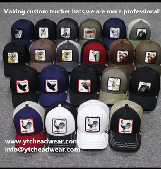 supply custom embroidery  trucker hats caps