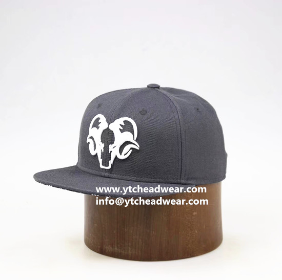 Hemp gray color caps hats with flat brim