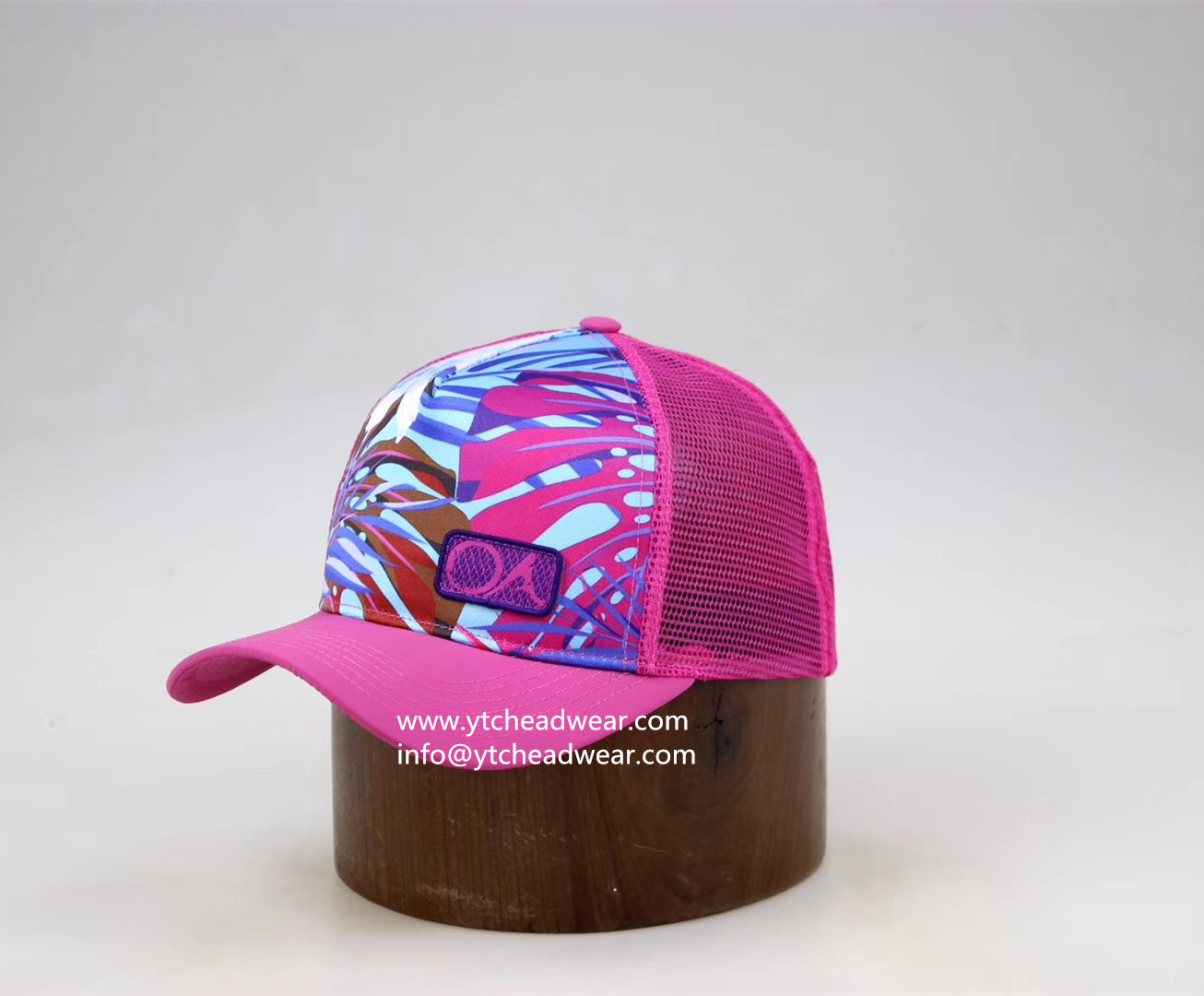 Fabric Printed sport trucker hat for girl